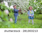 adorable girl with a boy in the ... | Shutterstock . vector #281303213