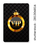 vip members card vector... | Shutterstock .eps vector #281306816