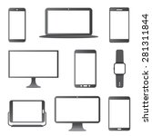 electronic devices vector set. | Shutterstock .eps vector #281311844