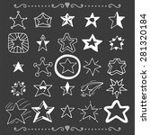 set of doodle stars. hand drawn ... | Shutterstock .eps vector #281320184