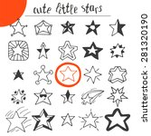 hand drawn cute little stars.... | Shutterstock .eps vector #281320190
