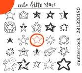 hand drawn cute little stars.... | Shutterstock .eps vector #281320190