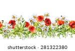 floral horizontal border.... | Shutterstock . vector #281322380