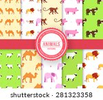 collection set of animal... | Shutterstock .eps vector #281323358