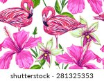 beautiful seamless vector... | Shutterstock .eps vector #281325353