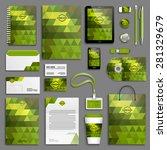 corporate identity template set.... | Shutterstock .eps vector #281329679