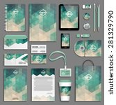 corporate identity template set.... | Shutterstock .eps vector #281329790