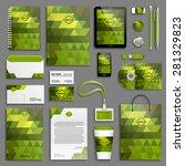 corporate identity template set.... | Shutterstock .eps vector #281329823
