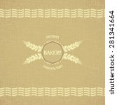 background template for bakery... | Shutterstock . vector #281341664