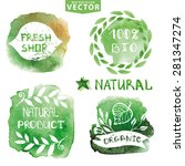 watercolor logotypes set.vector ... | Shutterstock .eps vector #281347274