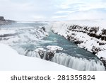 gulfoss golden falls waterfall...