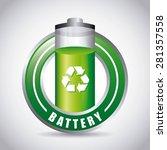 battery power design  vector... | Shutterstock .eps vector #281357558