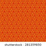 seamless geometric pattern of... | Shutterstock .eps vector #281359850