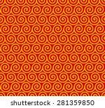 seamless geometric pattern of... | Shutterstock .eps vector #281359850