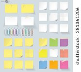 set of memo  vector | Shutterstock .eps vector #281361206