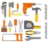 tools design over white... | Shutterstock .eps vector #281362619