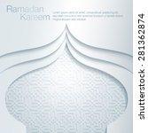 ramadan kareem mosque pattern... | Shutterstock .eps vector #281362874