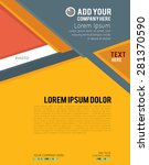 magazine or brochure  vector... | Shutterstock .eps vector #281370590