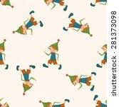 pinocchio   cartoon seamless... | Shutterstock .eps vector #281373098