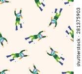 diver   cartoon seamless... | Shutterstock .eps vector #281375903