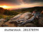 spring sunrise at shenandoah | Shutterstock . vector #281378594