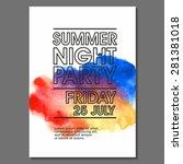 night party vector flyer... | Shutterstock .eps vector #281381018