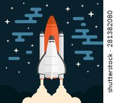 space shuttle concept vehicle... | Shutterstock .eps vector #281382080