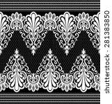 black damask vintage floral... | Shutterstock .eps vector #281383850