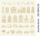 vector collection of linear... | Shutterstock .eps vector #281384126