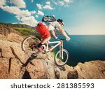 downhill bike. down from the... | Shutterstock . vector #281385593