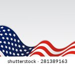 united state of america wavy... | Shutterstock . vector #281389163