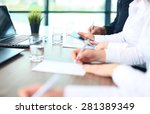 business adviser analyzing... | Shutterstock . vector #281389349