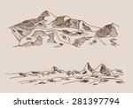 rocky mountain scenery  with... | Shutterstock .eps vector #281397794