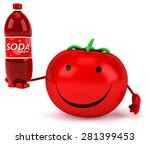 fun tomato | Shutterstock . vector #281399453