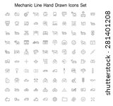 mechanic line hand drawn icon... | Shutterstock .eps vector #281401208