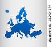 map of europe | Shutterstock .eps vector #281404379