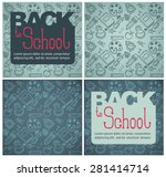 back to school backgrounds | Shutterstock .eps vector #281414714