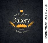 vintage logotype for bakery and ... | Shutterstock .eps vector #281417018