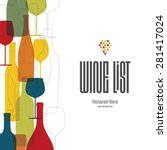 wine list design. vector... | Shutterstock .eps vector #281417024