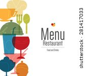restaurant menu design. vector... | Shutterstock .eps vector #281417033