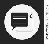 office conversation icon | Shutterstock .eps vector #281418719