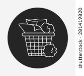 garbage can line icon | Shutterstock .eps vector #281419820