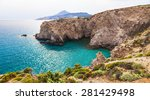 beautiful beaches of greece  ... | Shutterstock . vector #281429498