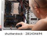 repair computers | Shutterstock . vector #281434694