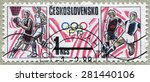czechoslovakia   circa 1988 ... | Shutterstock . vector #281440106