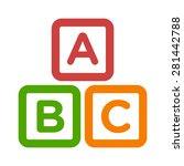abc blocks   abc cubes child... | Shutterstock .eps vector #281442788