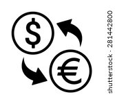 dollar to euro foreign currency ... | Shutterstock .eps vector #281442800
