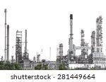 oil refinery isolate on white... | Shutterstock . vector #281449664