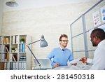 african man passing over his... | Shutterstock . vector #281450318
