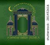 ramadan kareem  greeting card...   Shutterstock .eps vector #281452616